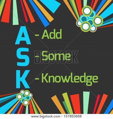 Ask Formula Dark Colorful Elements