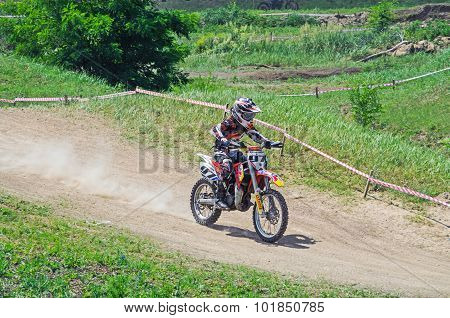 Youthful Motorcycle Racer