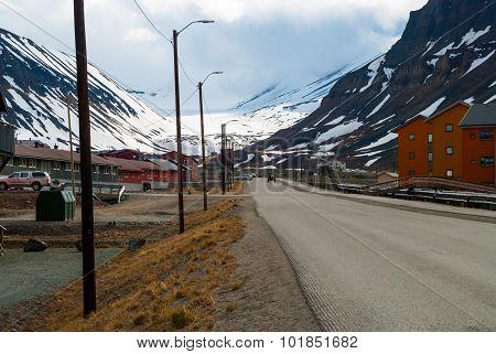 Street In Longyearbyen, Svalbard