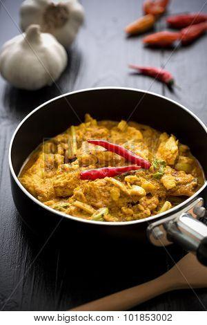Thai Cuisine Background / Thai Cuisine / Thai Cuisine On Black Background