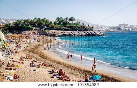 El Duque Beach In Tenerife, Canary Islands