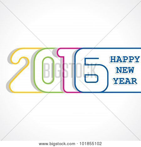 creative New Year 2016 design stock vector