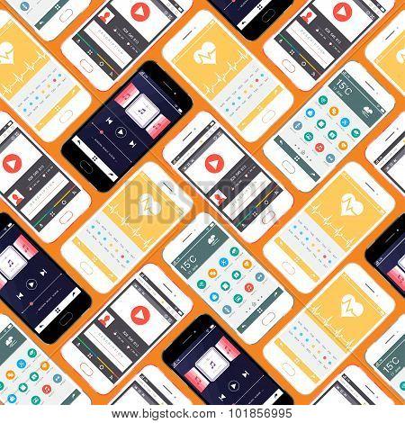 Smartphone Seamless Pattern