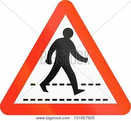 Pedestrian Crossing In Bangladesh