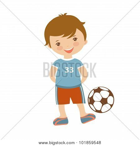 Cute football player