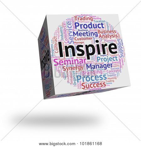 Inspire Word Shows Spur On And Encourages