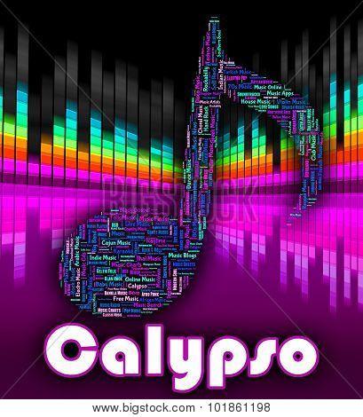 Calypso Music Indicates Caribbean Song And Calypsos