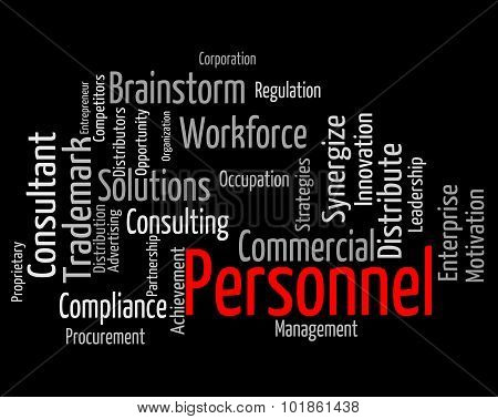 Personnel Word Indicates Human Resources And Employees