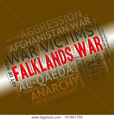 Falklands War Means Warfare Fight And Fighting