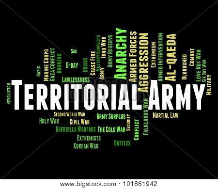 Territorial Army Means Armed Services And Tavr