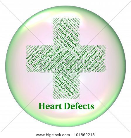 Heart Defects Means Anomaly Blemish And Errors