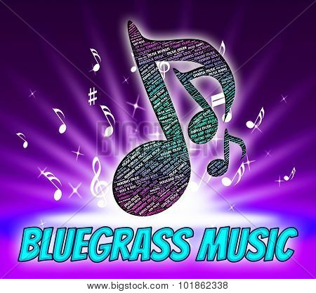 Bluegrass Music Indicates Sound Tracks And Acoustic