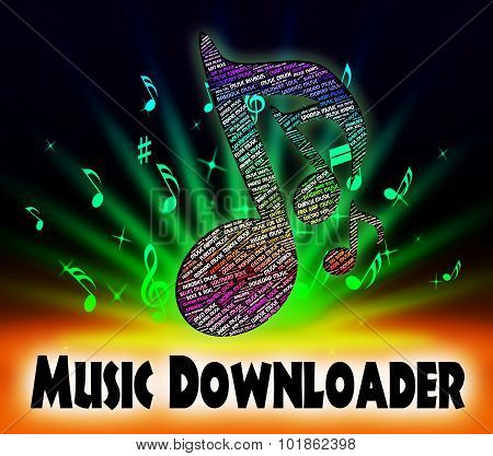Music Downloader Shows Sound Tracks And Application