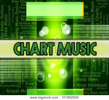 Music Charts Means Best Sellers And Albums