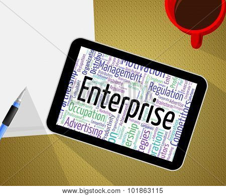 Enterprise Word Means Businesses Wordclouds And Establishment