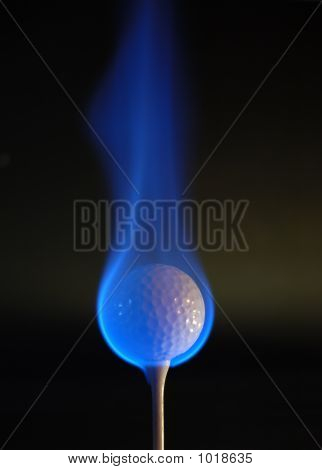 Flaming Golf Ball