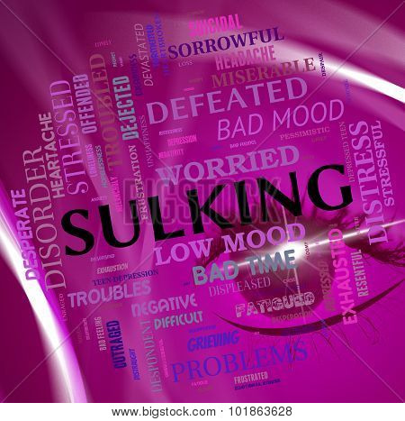 Sulking Word Means Bad Mood And Broods