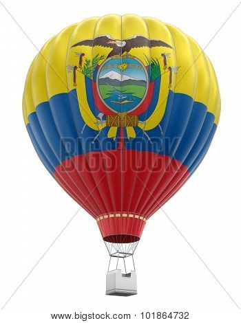 Hot Air Balloon with Ecuadorian Flag (clipping path included)