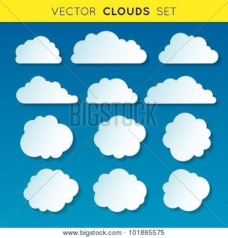 Vector clouds set 1