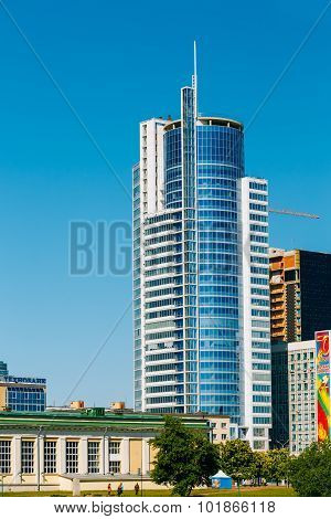 Business Center Royal Plaza -Skyscraper on Pobediteley Avenue in