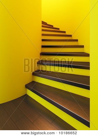 Spiral Wooden Staircase,