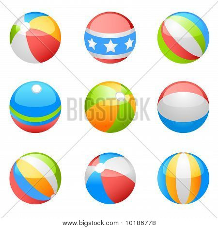 beach ball vector set