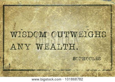 Wisdom Sophocles