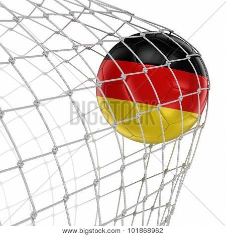 German soccerball in net