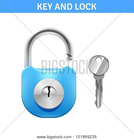 Lock And Key Illustration