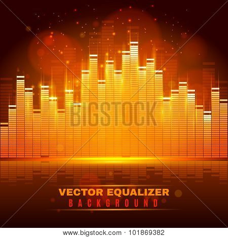 Equalizer wave light background poster