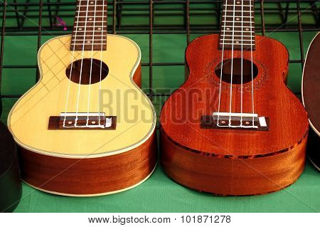 Ukulele Instruments For Sale At A Market