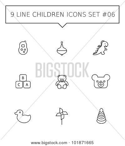 Children icon set 6