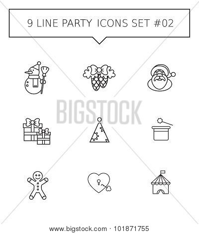 Line party icon set 2