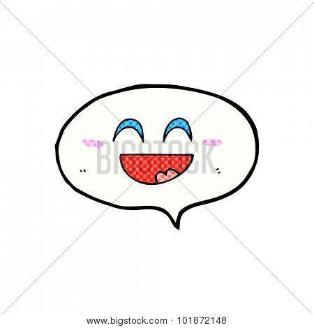 cute cartoon speech balloon