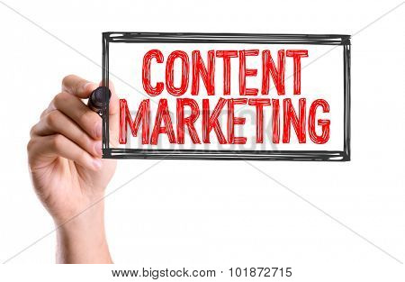 Hand with marker writing: Content Marketing