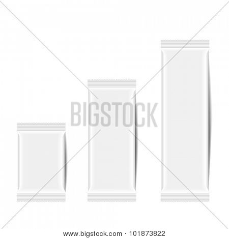detailed illustration of a blank snack bars packaging template, eps10 vector