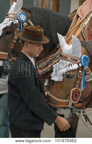 Oktoberfest Man With Horse