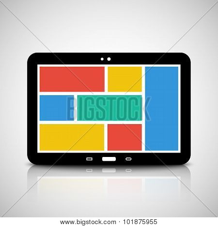 Tablet Pc With Tiled Style Graphic User Interface