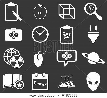 Science icon set 3, monochrome