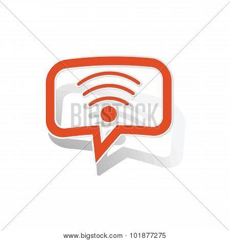 Wi-Fi message sticker, orange