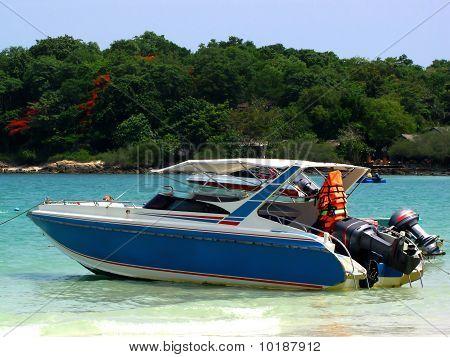 Speedboat And Life Jacket