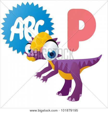 Dino Animal ABC: P is for Pachycephalosaurus