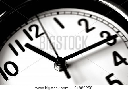 Time passing over the face of home office Wall Clock. Concept photo of time timmingbusiness busydeadline.