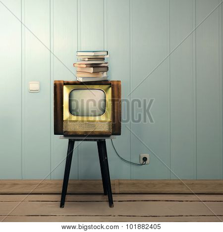 Vintage Tv And Book
