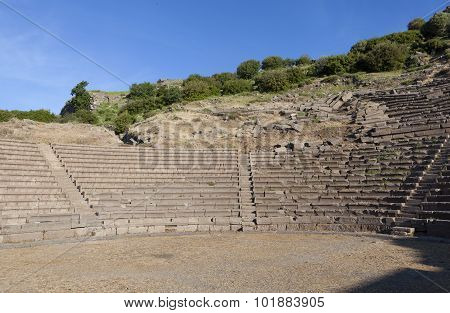 Amphitheater. Troy. Turkey.