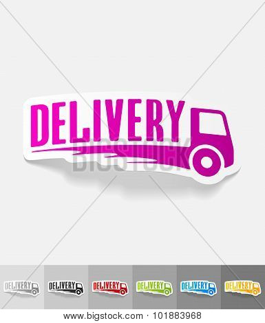 realistic design element. DELIVERY