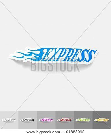 realistic design element. EXPRESS