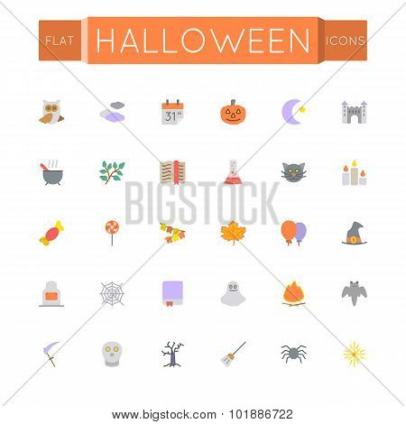 Vector Flat Halloween Icons