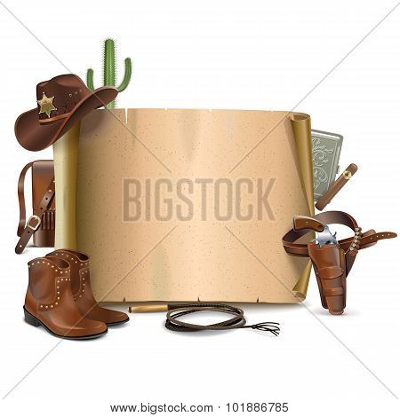 Vector Cowboy Scroll