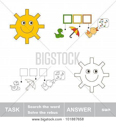 Find hidden word SUN.
